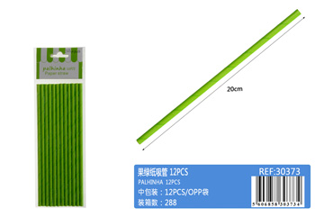 Fruit green paper straw